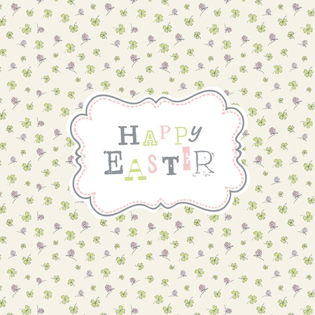 Happy easter. Cute greeting card template, Vector, EPS10 Vector