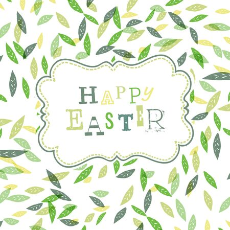 eps10: Happy easter. Cute greeting card template, Vector, EPS10 Illustration