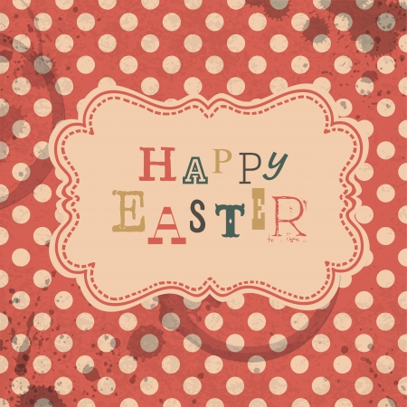Happy easter retro greeting card  Vector, EPS10 Vector