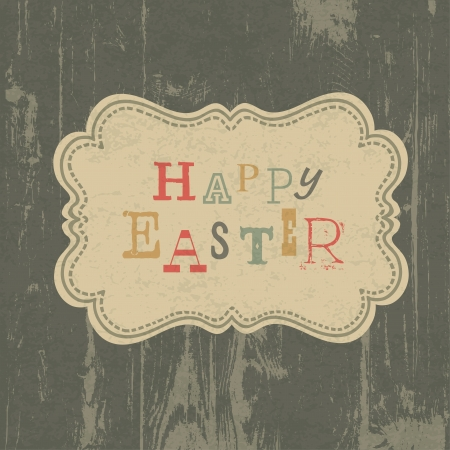 Happy easter vintage greeting card  Vector, EPS10 Vector