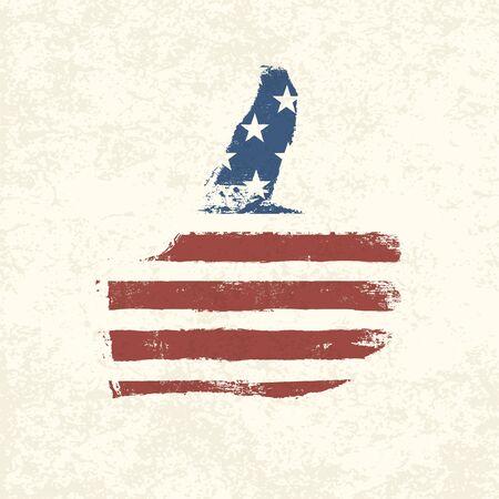 Like shaped american flag  Vector, EPS10 Stock Vector - 18586279