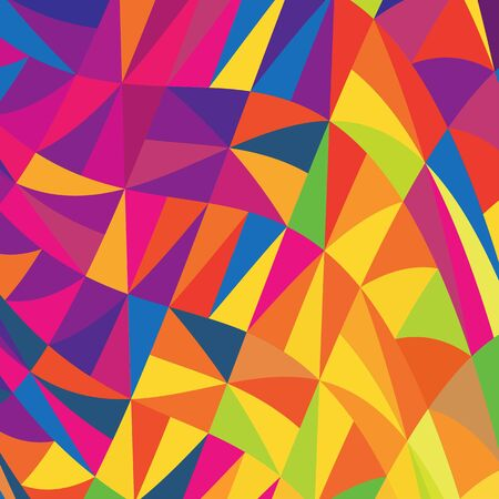 Multi-colored triangles background  Vector, EPS10 Stock Vector - 18586177