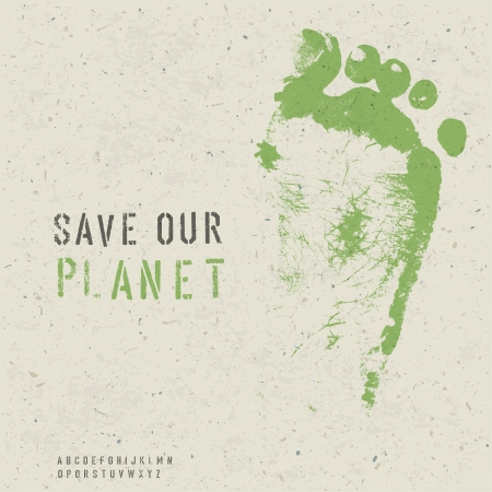 Save our planet poster  Vector, EPS10 Illustration