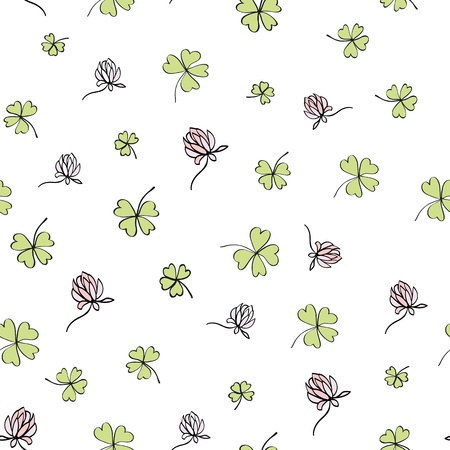 Seamless clover background  Vector, EPS8 Vector