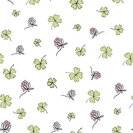 seamless clover: Seamless clover background  Vector, EPS8
