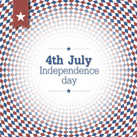 Independence Day. 4th of July. Poster design with blue and red checkered abstract background. Stock Vector - 19185904