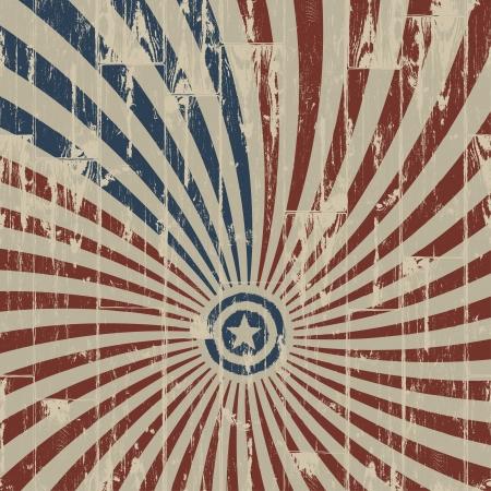 네번째: 나무 질감에 대한 미국의 애국 추상적 인 배경입니다.