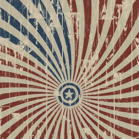 American patriotic abstract background on wooden texture.