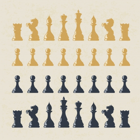 Chess figures set.  Vector