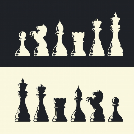 regina: Chess pieces collection Illustration