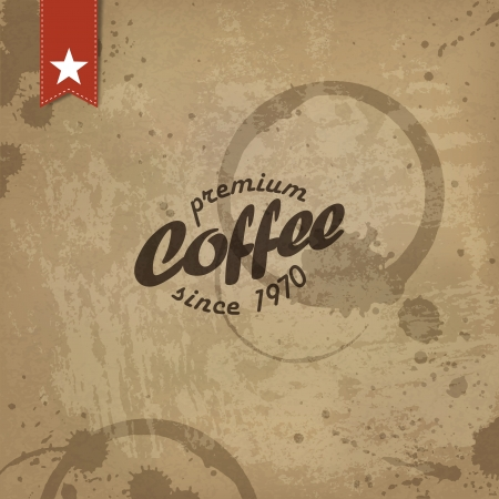 Coffee grunge retro background.   Vector
