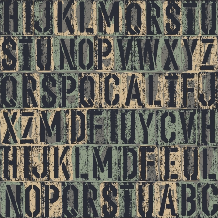 letterpress letters: letterpress seamless background.  Illustration