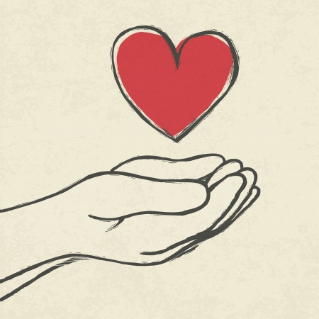 massage symbol: Heart in hands.