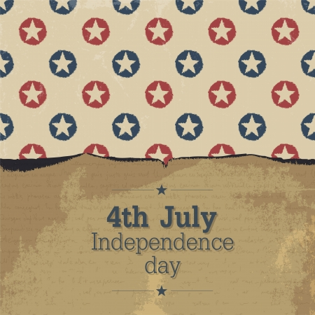 Independence day vintage poster.   Vector