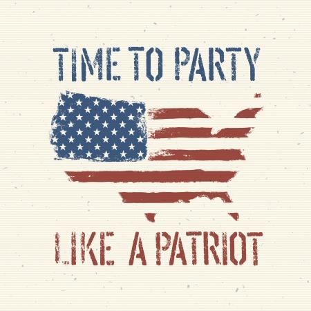 American patriotic poster, Stock Vector - 19186716