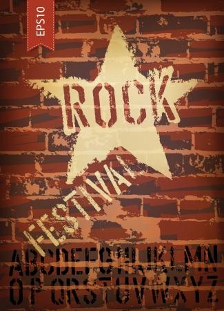 Rock festival poster.  Vector