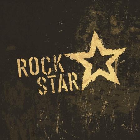 Roca icono grunge estrellas.