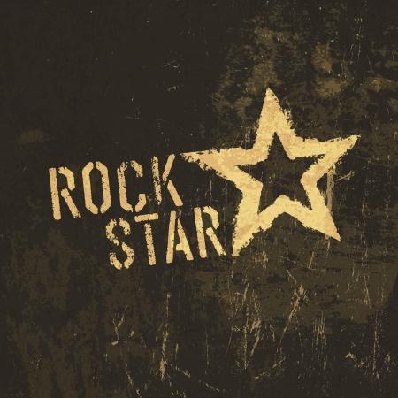 Rock star grunge icon.   Vector