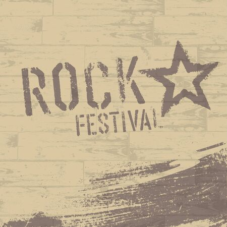 Rock festival abstract poster template. Vector