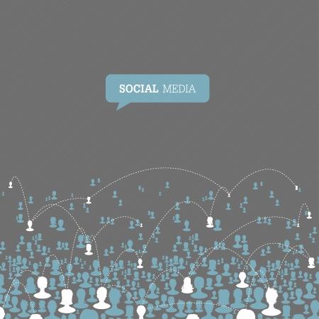 Social Media Network. Illusztráció