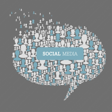 Social Media Bubble Speech Concept. Stock Vector - 19186599
