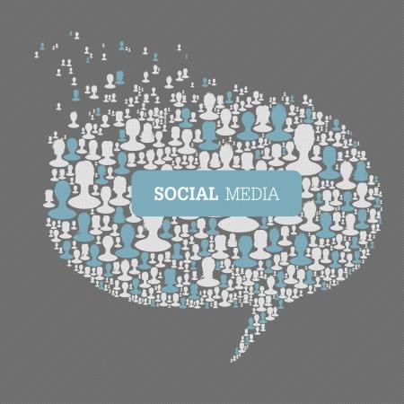 issues: Social Media Bubble Speech Concept.