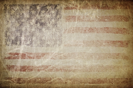Grunge american flag background. Perfect for text placing. photo