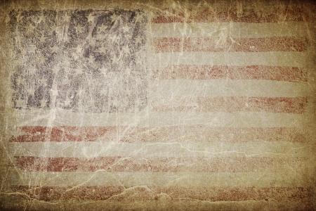 Demokratie: Grunge amerikanische Flagge Hintergrund. Perfekt f�r Text Platzierung.