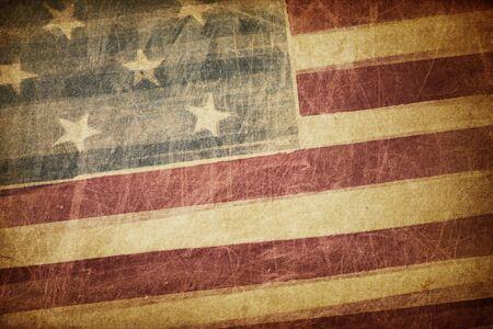 independencia: Vintage grunge bandera americana