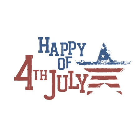 Typography for Fourth July Celebration. Vector, EPS10  Illustration