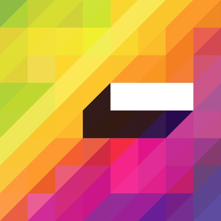 Colorful abstract background with diagonal shapes and space for text. Vector Illustration