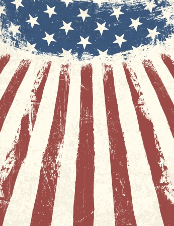 American flag themed background. Vector Vector