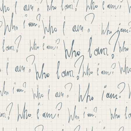 amnesia: Who i am? seamless pattern. With notepad paper texture. Vector