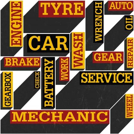 Car themed seamless retro background, vector Stock Vector - 19926096