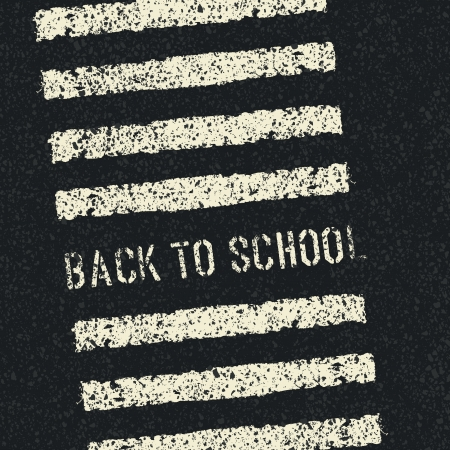 Back to school. Road safety concept. Vector.