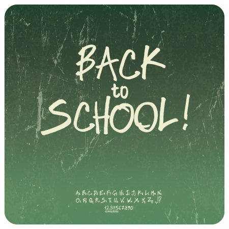 Back to school poster. Vector Vector