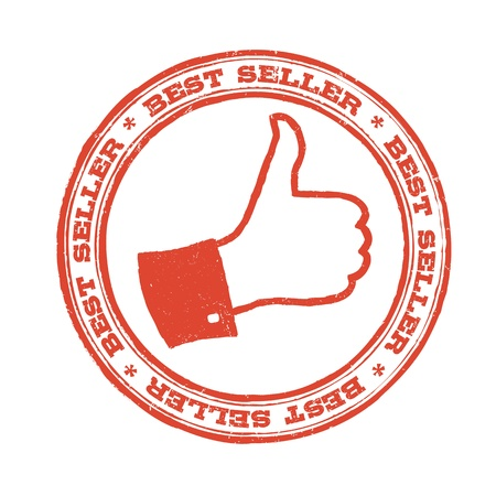 Best seller stamp with thumb up symbol. Vector Stock Vector - 19919588