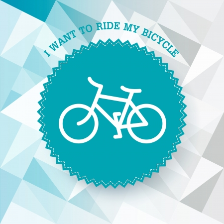bicycle silhouette: Vintage bicycle illustration. Vector. Illustration