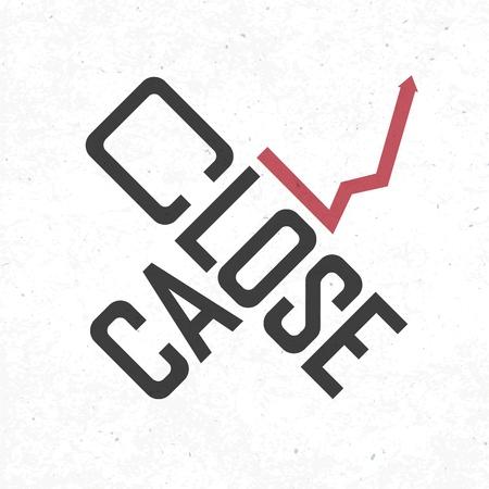 risky: Close call phrase. Risky business concept, vector, EPS10