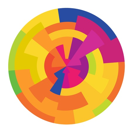 painter palette: Abstract colorful circle, vector