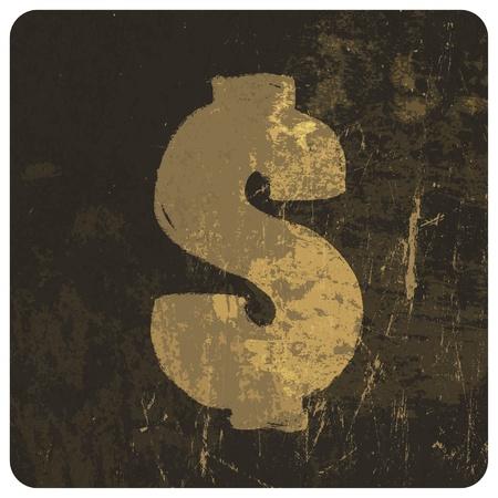 Grunge illustration of dollar sign. Vector Stock Vector - 19926147