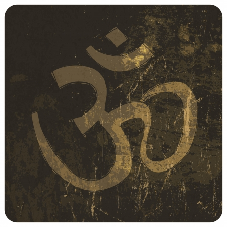 shankar: Om grunge symbol. Vector Illustration