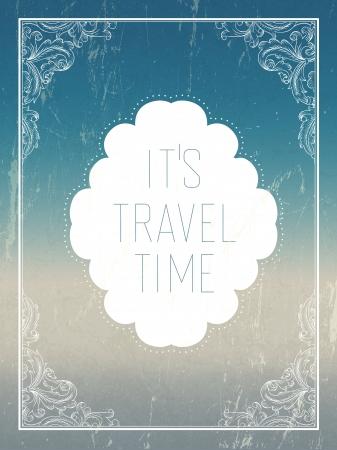 Vintage summer holidays poster template. Vector Illustration