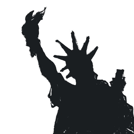 statue of liberty: Statue Of Liberty Silhouette, Vector