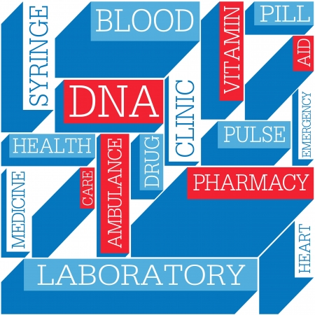 dna background: Medicine themed seamless background, vector