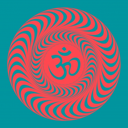 Om symbol illustration. Vector