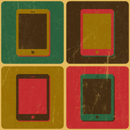 Smart Phone Poster, Pop-Art Styled, Vector Stock Vector - 19926087