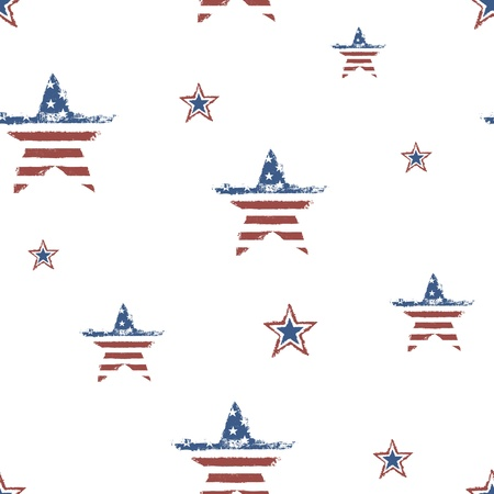 Seamless patriotic ornament for Fourth July Celebration. Vector, EPS10