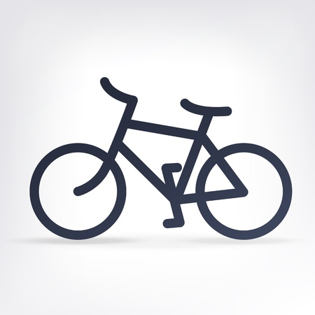 bicycle icon: Minimalistic bicycle icon. Vector, EPS10