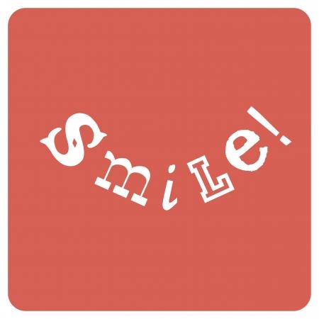Smile! Positieve emoties concept, vector Vector Illustratie